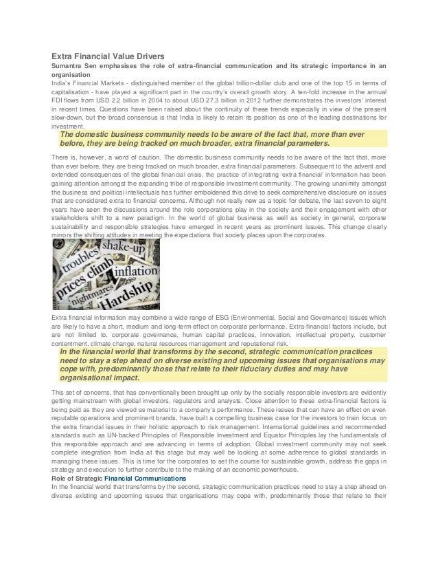 Extra Financial Value Drivers - Financial Communication - Penn Schoen Berland