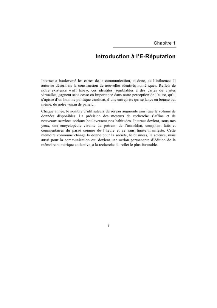 Livre E-Réputation (Extrait)