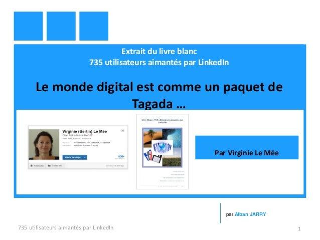 Extrait du livre blanc 735 utilisateurs aimantés par LinkedIn Le monde digital est comme un paquet de Tagada … 735 utilisa...