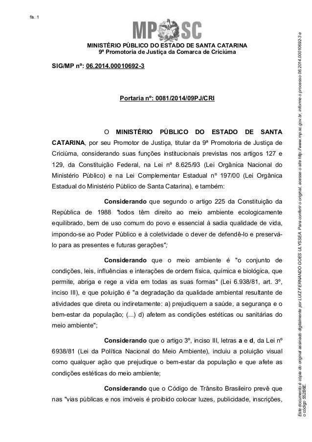 Este documento é cópia do original assinado digitalmente por LUIZ FERNANDO GOES ULYSSEA. Para conferir o original, acesse ...