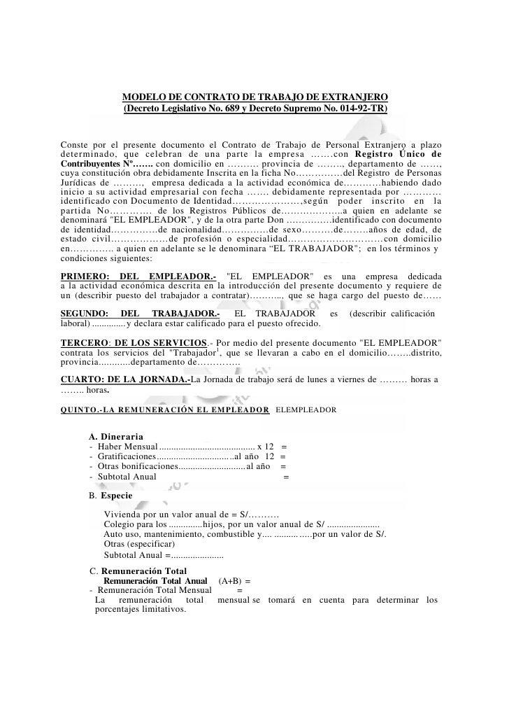 Requisitos Para La Contrataci N De Personal Extranjero