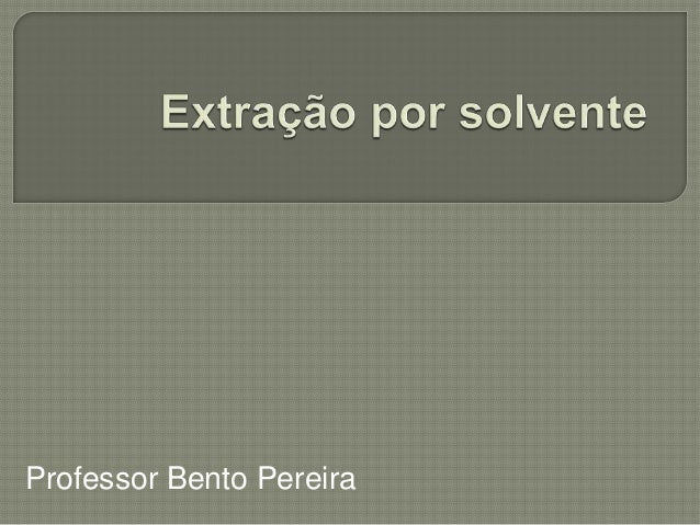 Professor Bento Pereira