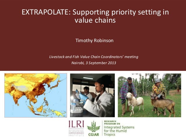 EXTRAPOLATE: Supporting priority setting in value chains