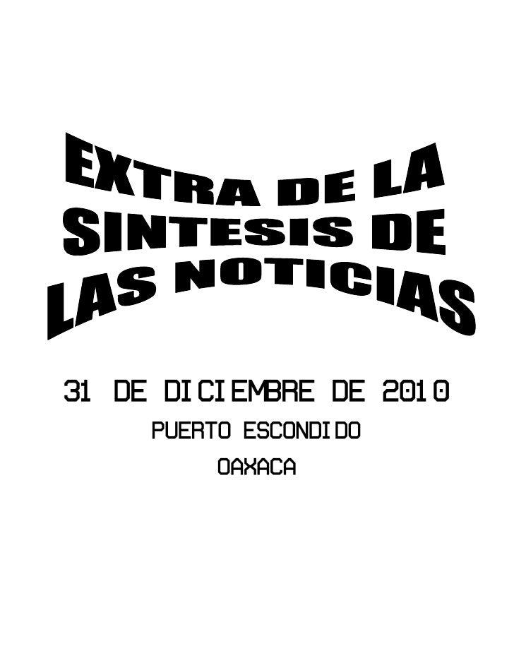 Extra sintesis 31 dic