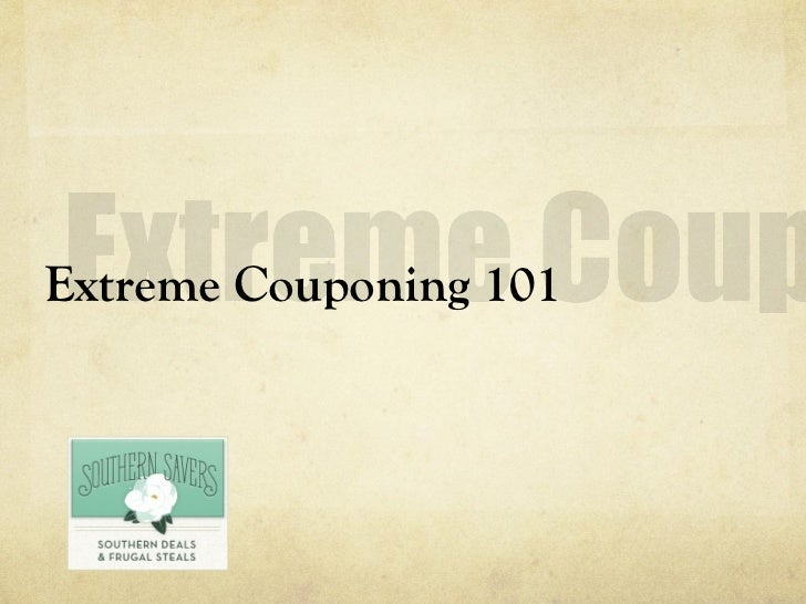 Extreme Couponing 101