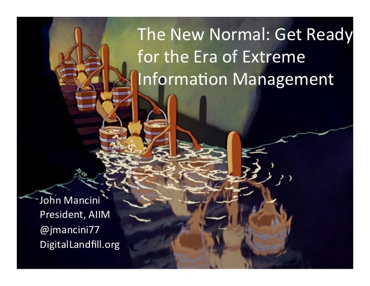 The New Normal: Get Ready                          for the Era of Extreme                          Inf...