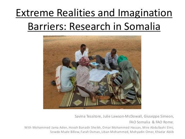 Extreme realities and imagination barriers: Somalia (Savina Tessitore, FAO)