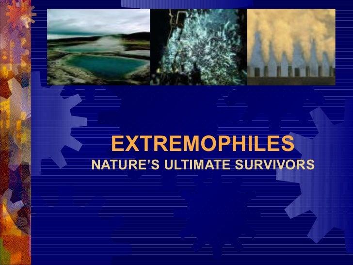 Extremophiles imp. 1