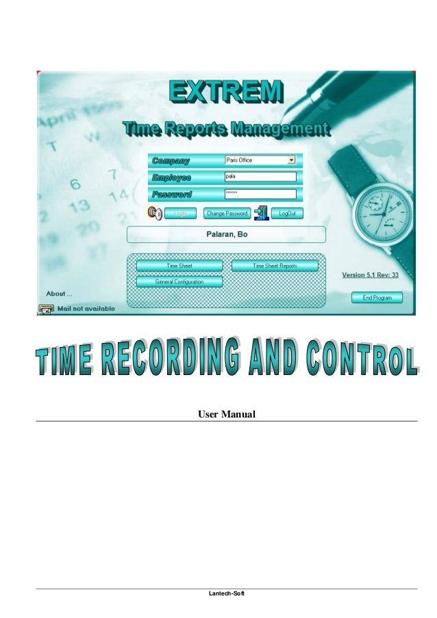 ExTreM Time Sheet Time Management Software