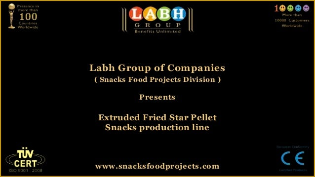 Extruded fried star pellet snacks production line
