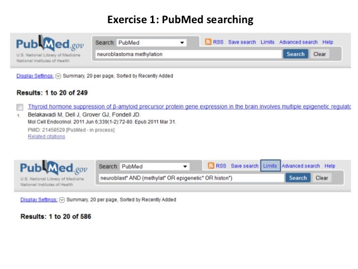 Exercise 1: PubMedsearching<br />