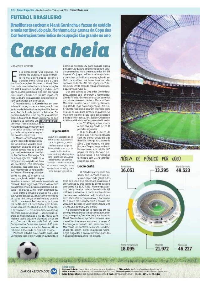 Mané Garrincha é o mais lucrativos dos novos estádios