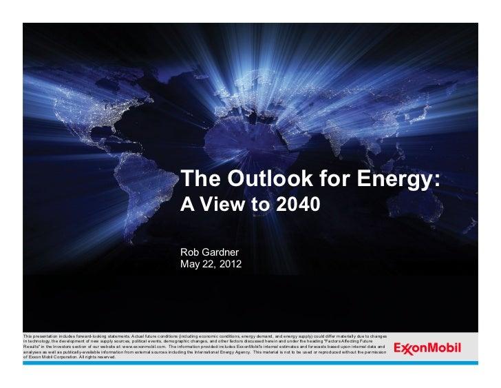 Exxon Mobil 2012 Energy Outlook
