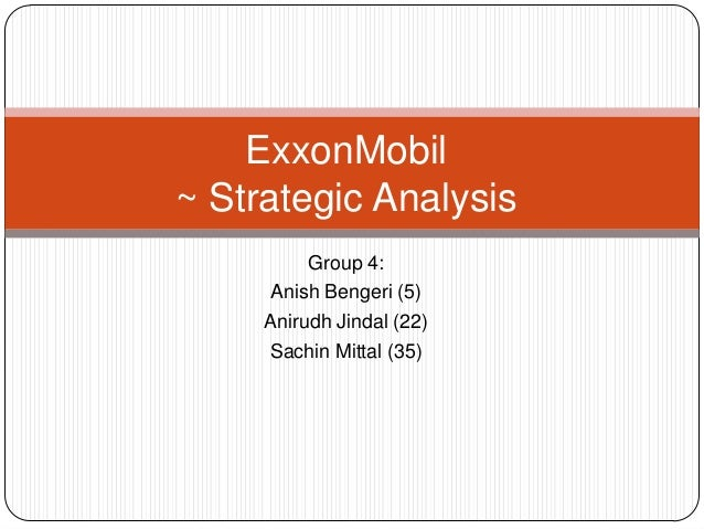 Exxon strategic analysis