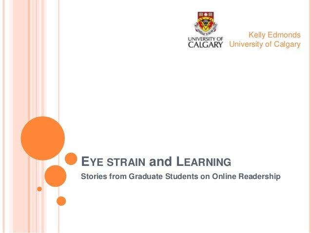 CNIE: Eye Strain And Learning