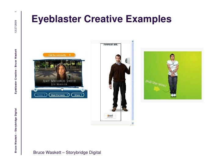 Eyeblaster Online Ads Examples