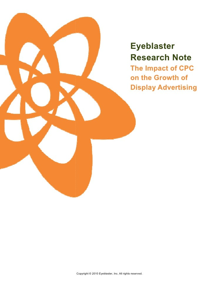 Eyeblaster Research Note Cpc Curtail The Growth Display Advertising