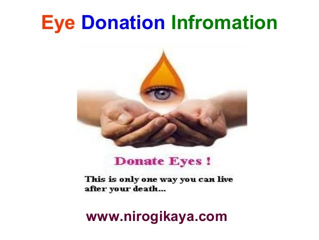 essay on donation of eyes