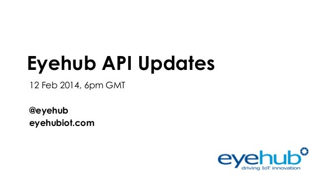 EyeHub updates