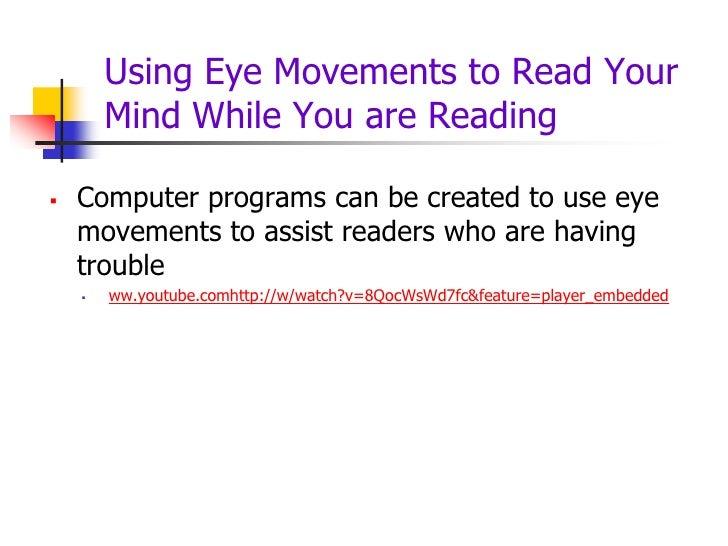 Eye movements in reading