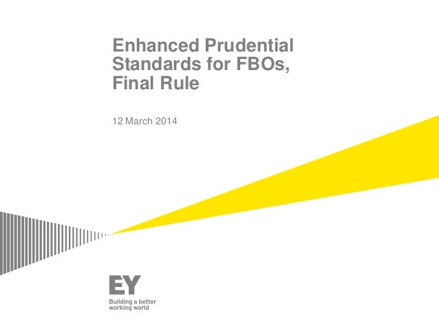 Enhanced Prudential Standards for FBOs, Final Rule