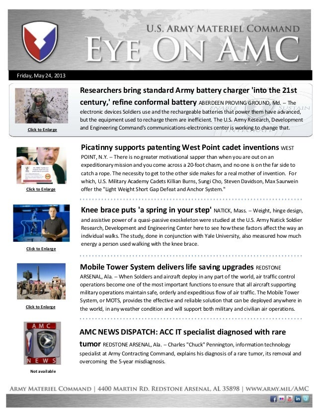 Eye on AMC, AMC weekly newsletter