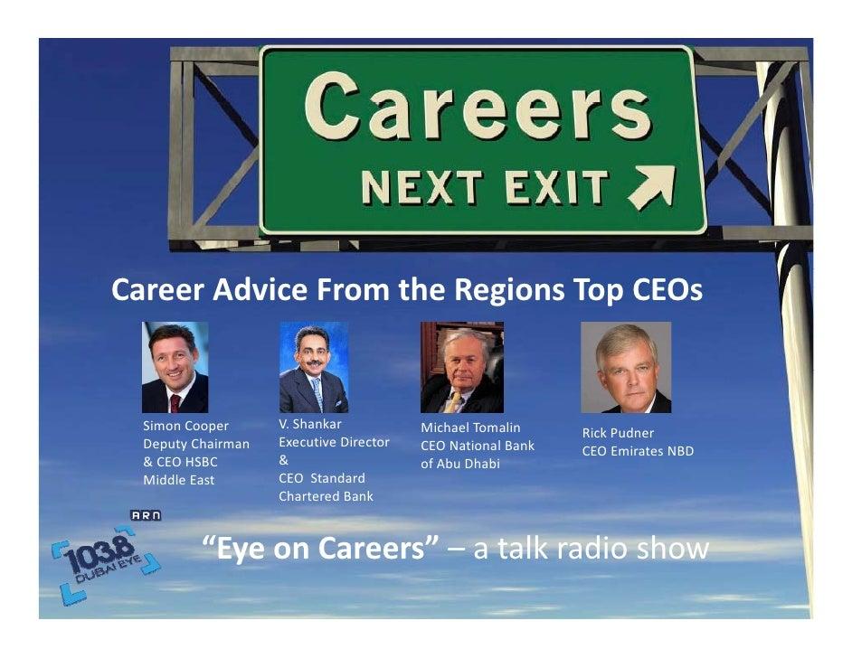"""""""Eye On Careers - 103.8"""" Talk Radio on Career Management"""