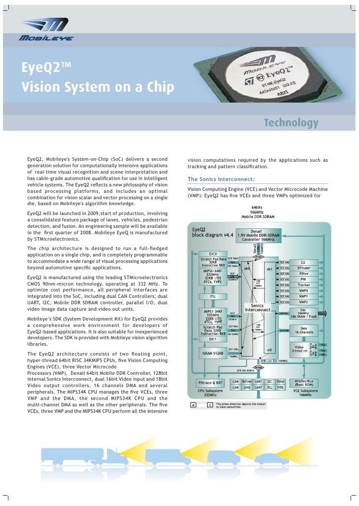 EyeQ2™ Vision System on a Chip