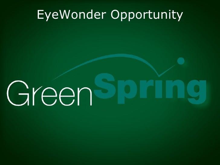 EyeWonder Opportunity