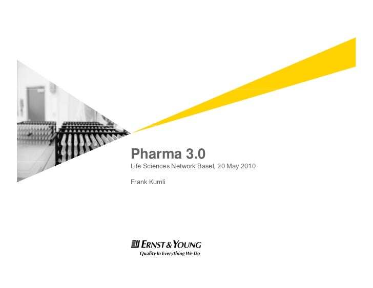 Ersnt & Young Pharma 3.0 Business Model