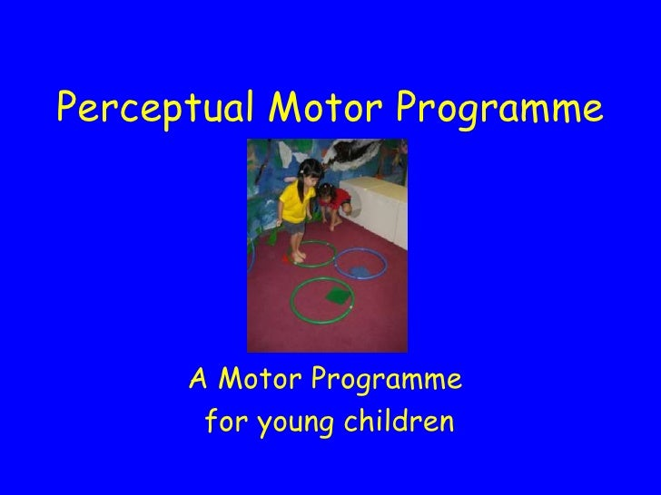Perceptual Motor Programme           A Motor Programme        for young children