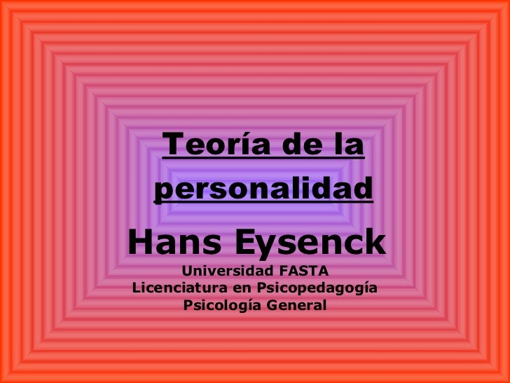the eysenck personality inventory psychology essay The paper concludes with a discussion aimed at underlining, and to some extent  explaining, differences between teachers' ratings and questionnaire responses.