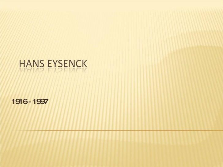 Eysenck Ppt