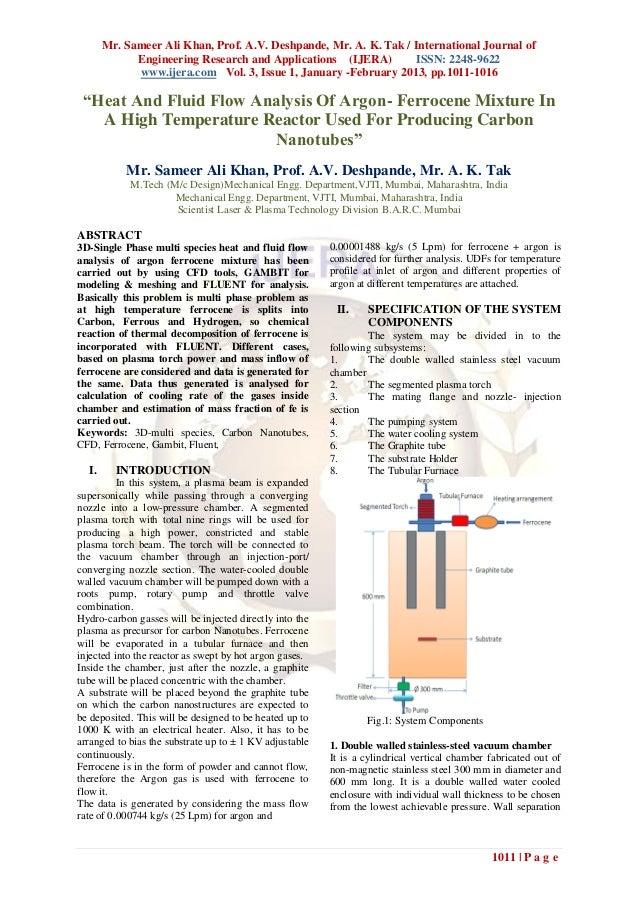 Mr. Sameer Ali Khan, Prof. A.V. Deshpande, Mr. A. K. Tak / International Journal of             Engineering Research and A...
