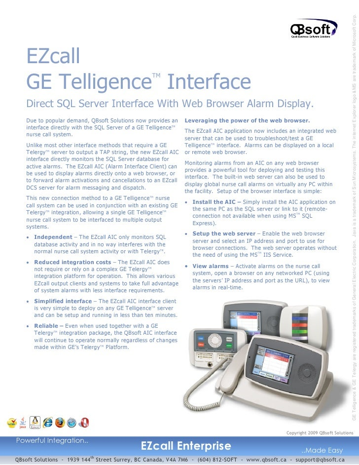 GE Telligence & GE Telergy are registered trademarks of General Electric Corporation. Java is a trademark of Sun Microsyst...