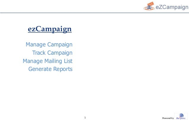 The Complete E-Mail Campaign Software.