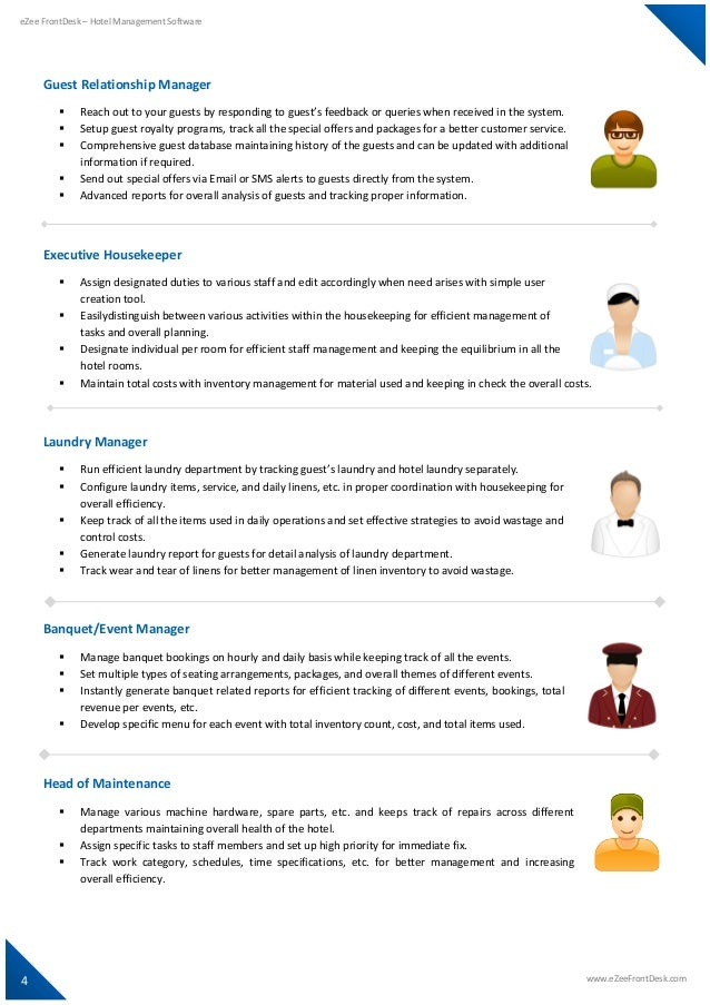 front desk management system This course introduces students to the front office operations topics include reservations, front desk and human resource deployment issues specific to front office operations management.