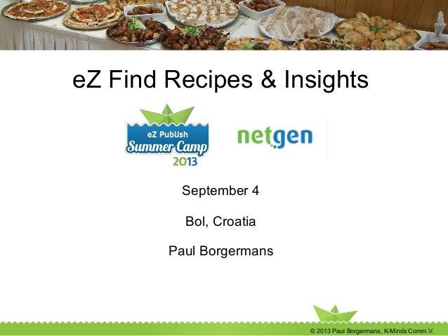 eZ Find workshop: advanced insights & recipes