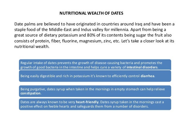 Nutritional Wealth Of Dates - Ezfit