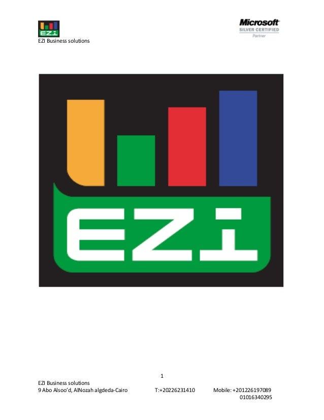 EZI Business solutions                                        1EZI Business solutions9 Abo Alsoo'd, AlNozah algdeda-Cairo ...