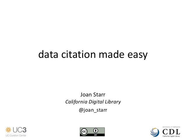 Data Citation Made Easy