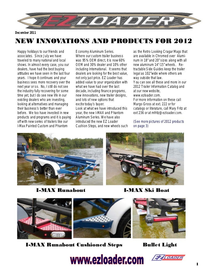 December 2011NEW INNOVATIONS AND PRODUCTS FOR 2012 Happy holidays to our friends and          Economy Aluminum Series.    ...