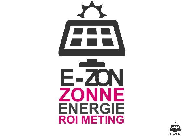 E-zon, solar energy ROI measurement