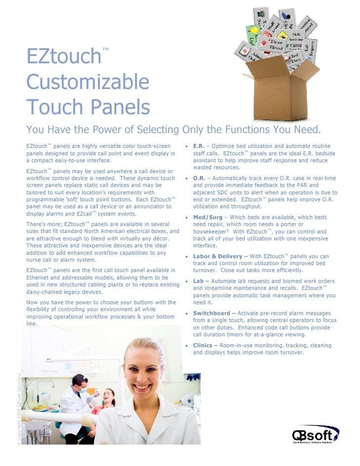 EZtouch                      ™                                    Customizable                                    Touch Pa...