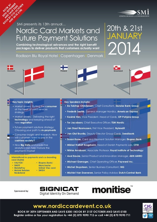 SMi Group's 13th annual Nordic Card Markets & Future Payment Solutions conference & exhibition