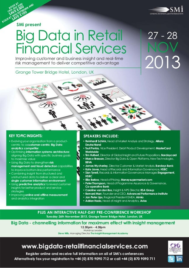 SMi Group's Big Data in Retail Financial Services conference