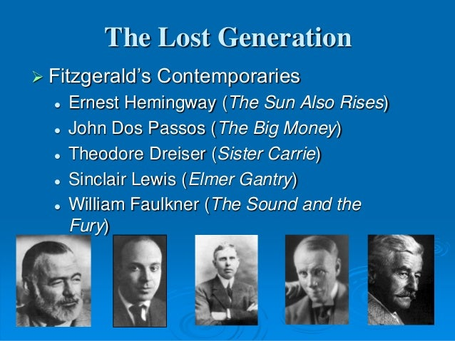 an analysis of lost generations in ernest hemingways in our time The lost generation in the sun also rises as world war i ripped this is true for the entire lost generation male characters in ernest hemingway.