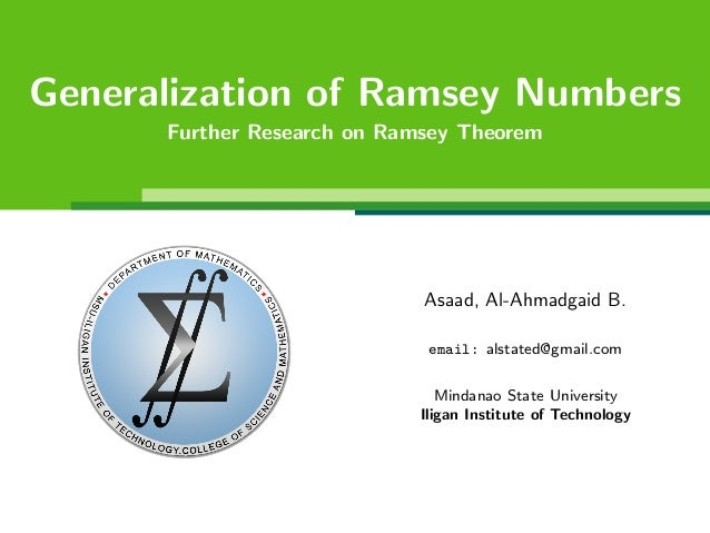 on classical ramsey numbers Martin gould ramsey theory ramsey theory martin gould  the classical statement of this problem involves friendships between six  bounds on ramsey numbers in.