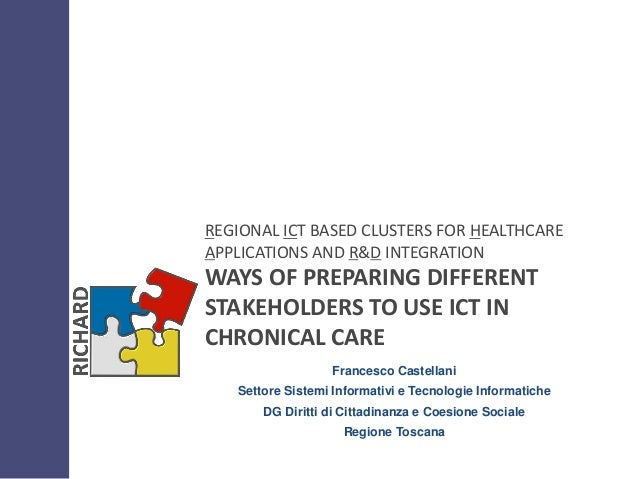 REGIONAL ICT BASED CLUSTERS FOR HEALTHCAREAPPLICATIONS AND R&D INTEGRATIONWAYS OF PREPARING DIFFERENTSTAKEHOLDERS TO USE I...