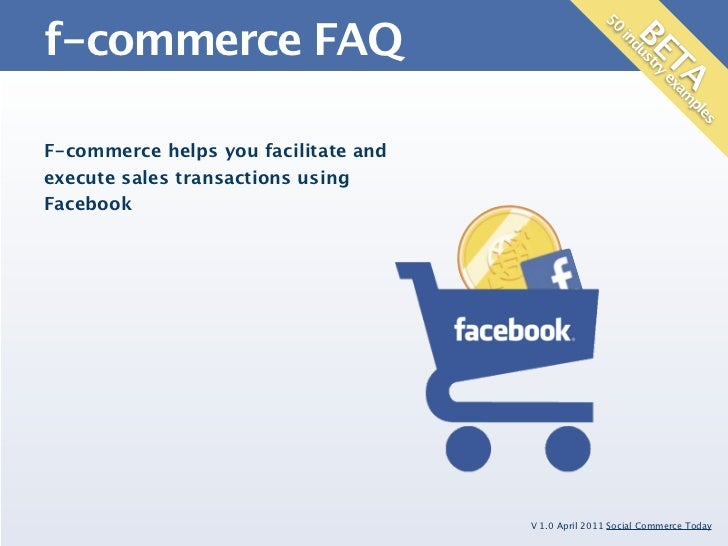 The F-Commerce FAQ